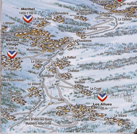 Meribel Valley Map